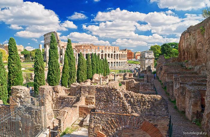 Рим, колизей панорама