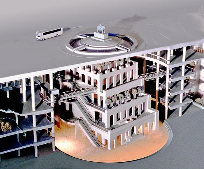 Макет реконструкции площади Восстания-Земцов, Кондиайн
