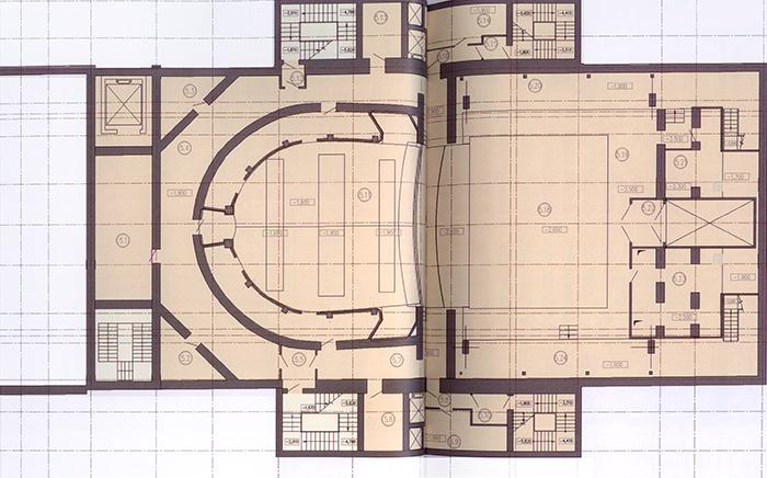 План подземного этажа Каменноостровского театра