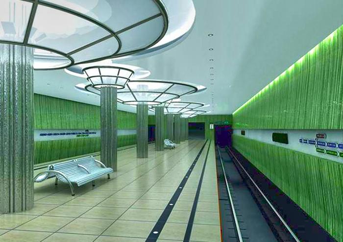 Проект станция метро - Стрелка в Нижнем Новгороде