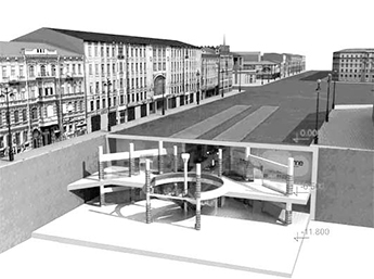 Проект подземного центра на площади Восстания