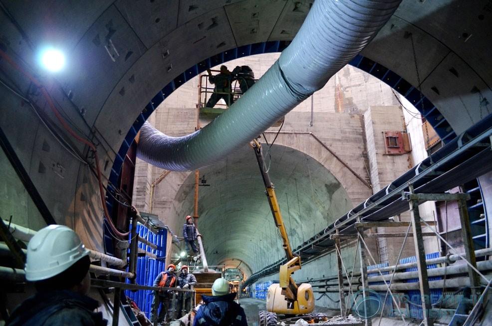 Строительство тоннеля метро Беговая