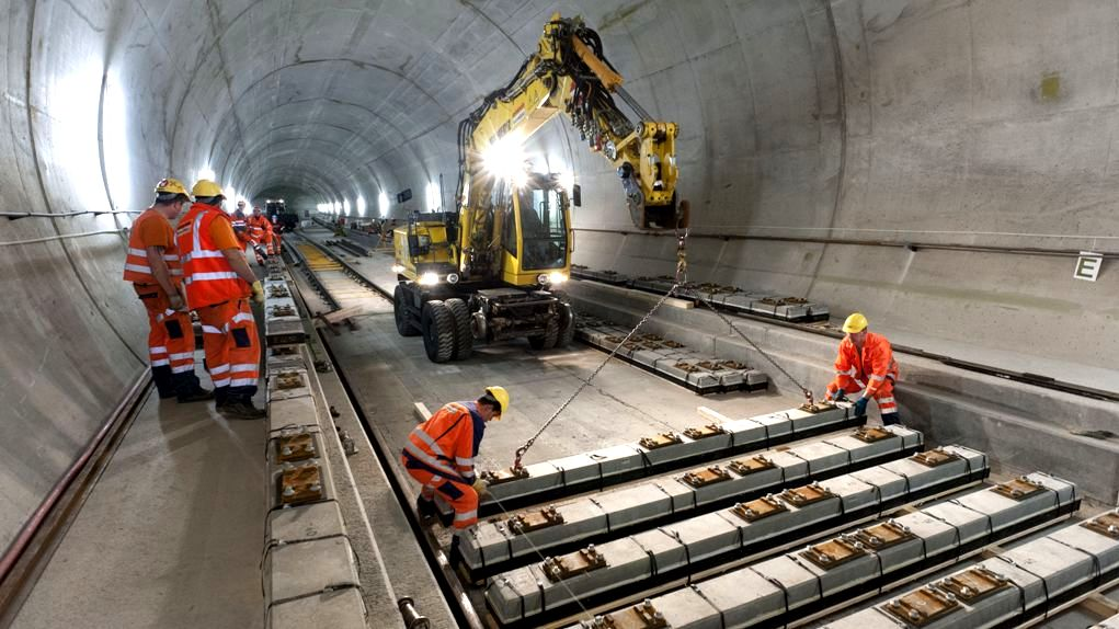Строительство готардского тоннеля