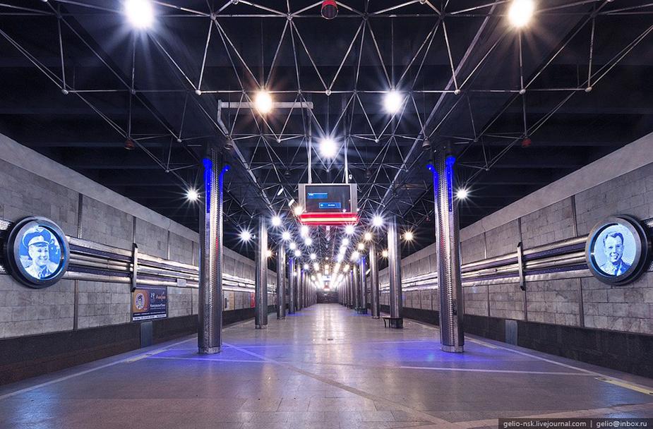 Станция Гагаринская в Новосибирске