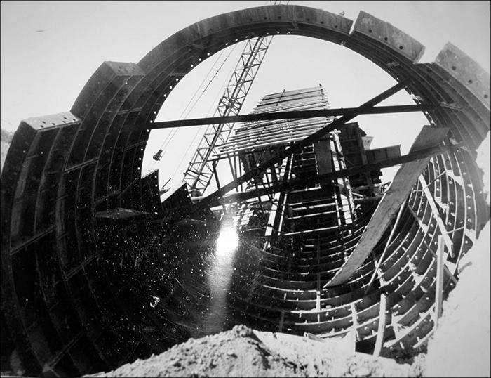 Строительство метро Вокзальная - наклонный ход
