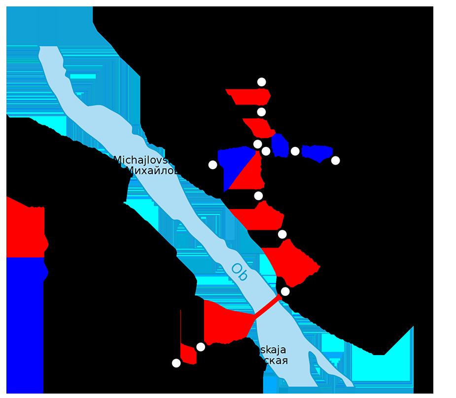 Novosibirsk metro scheme