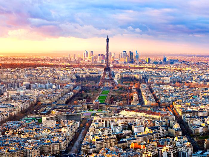 Панорама город Париж