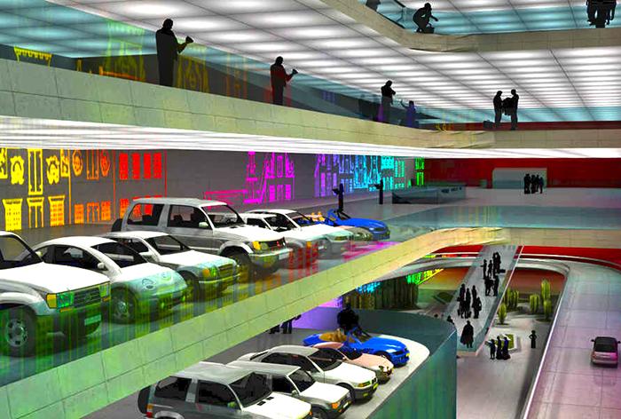 Как будет выглядить паркинг в Амфоре
