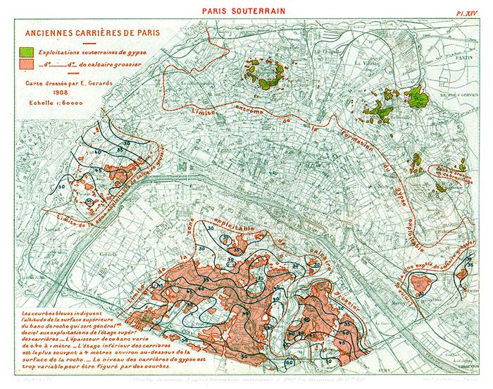 Карта подземного Парижа