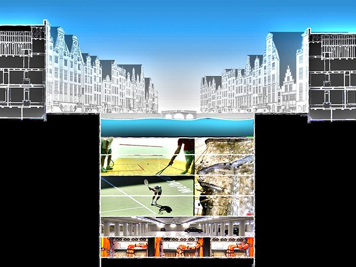 Концепция подземного комплекса в Амстердаме