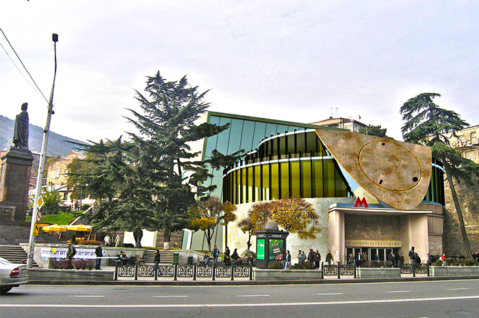 Наземный вестибюль станции метро Руставелли
