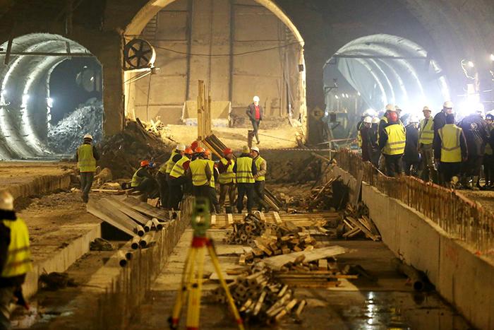 Строительство новых станций метро в Тбилиси