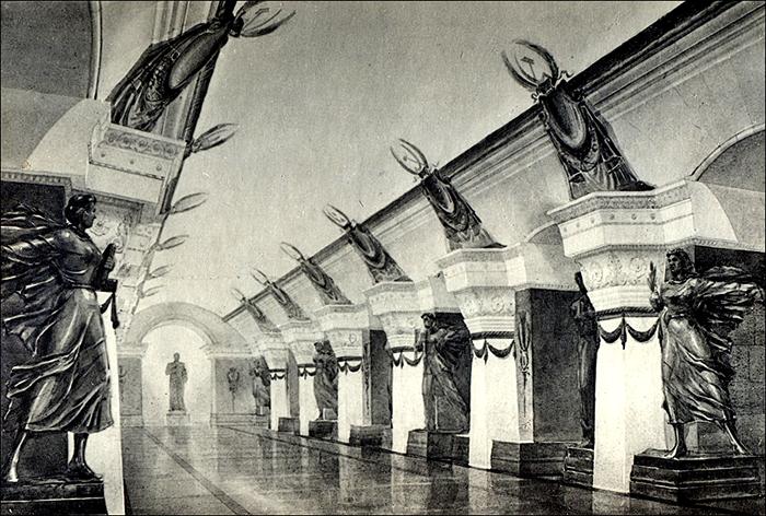 Эскиз самой глубокой станции метро - Арсенальная