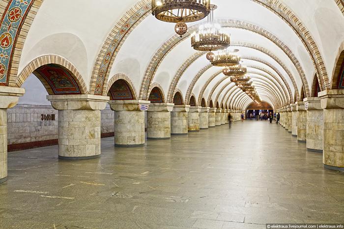 Станция киевского метро - Золотые ворота