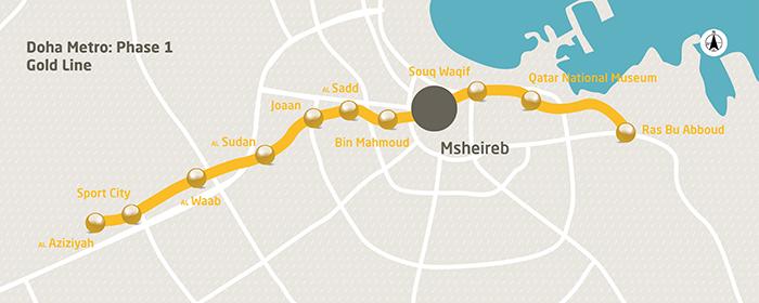Золотая линия метро Дохи
