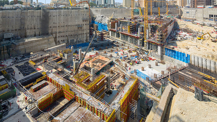 Строительство пересадочной станции Msheireb