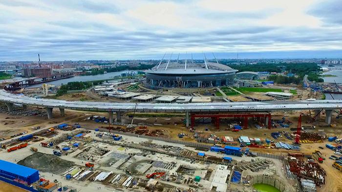 Строительство метро и стадиона Зенит-Арена