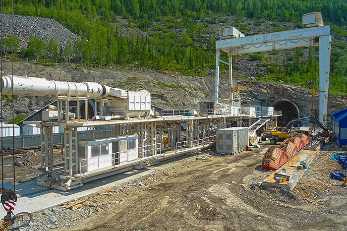 Монтаж ТПМК для строительства тоннеля