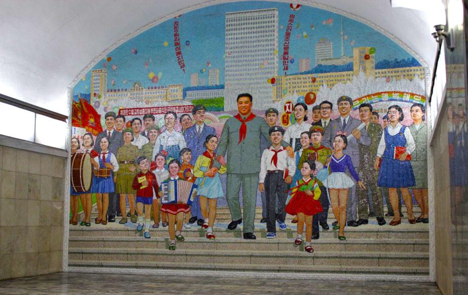 Коммунистический стиль в оформлении пхеньянского метро