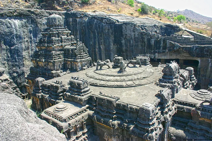 The Kailasha temple in the Ellora caves