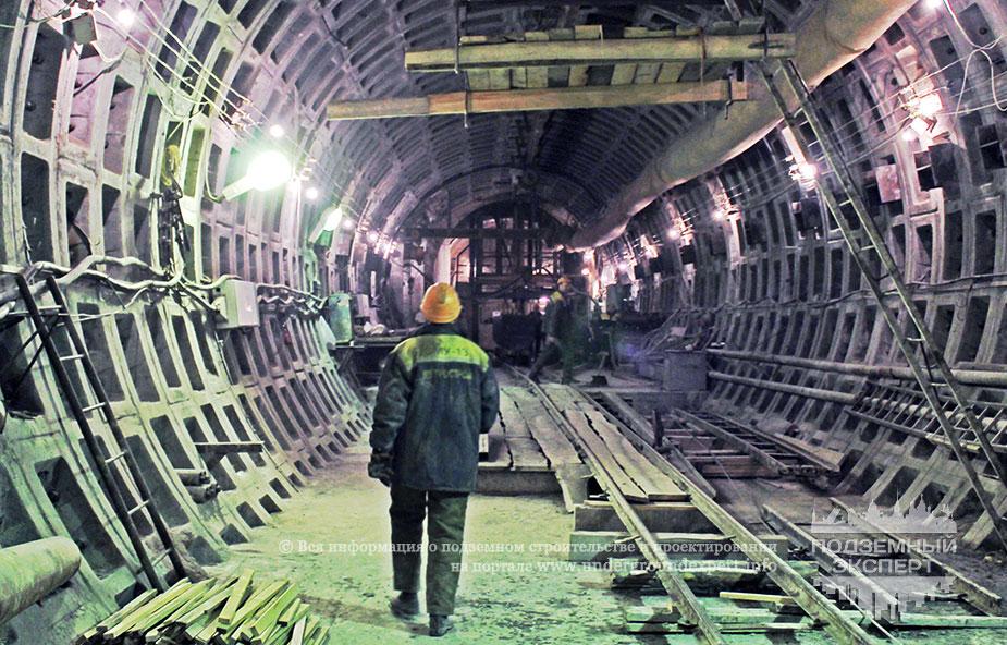 Строительство подходного тоннеля