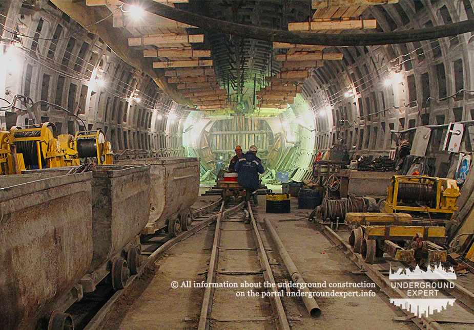 Construction of the access tunnel