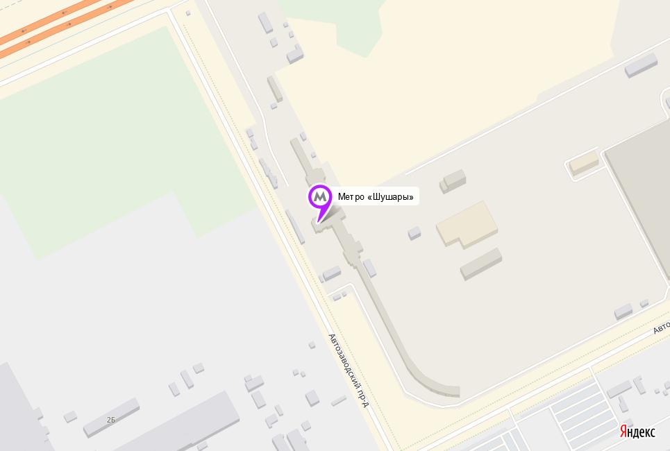 Расположение метро «Шушары»