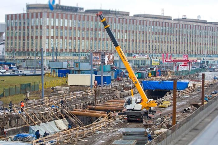 Строительство тоннеля на Синопской набережной