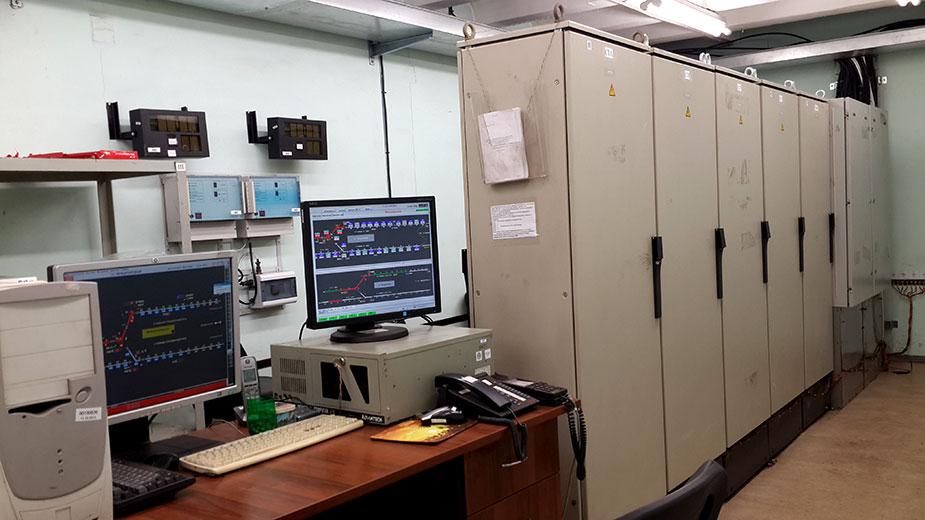 Аппаратная АТДП, оборудованная системой «Движение» разработки НИИ «Точной механики», на станции «Международная»