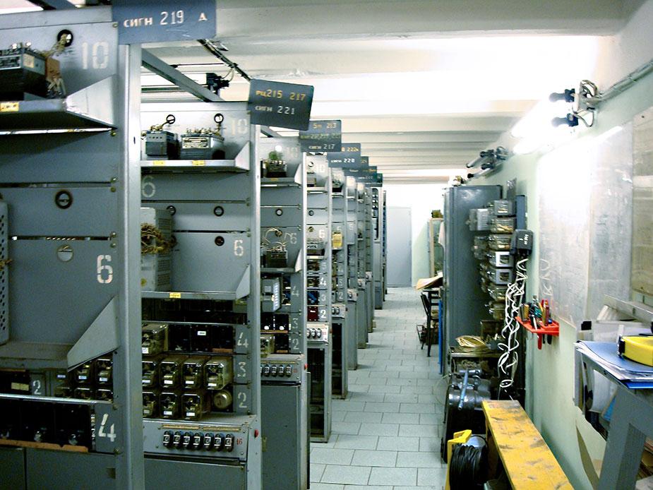 Оборудования в релейно-щитовой АТДП на станции «Приморская»