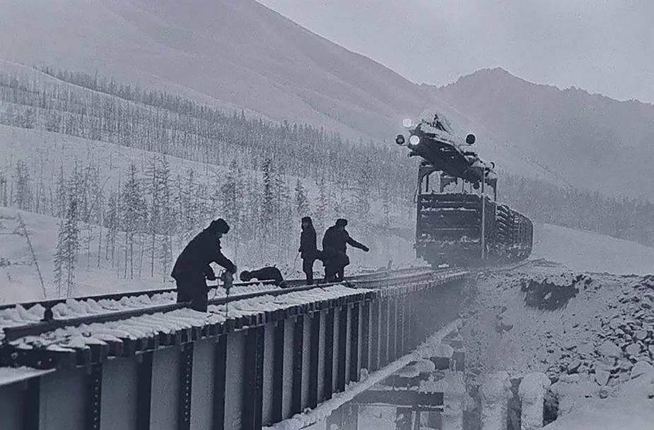 Construction of the Baikal-Amur Mainline.