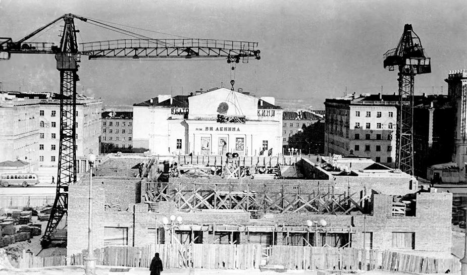 Construction of Norilsk city, 80s