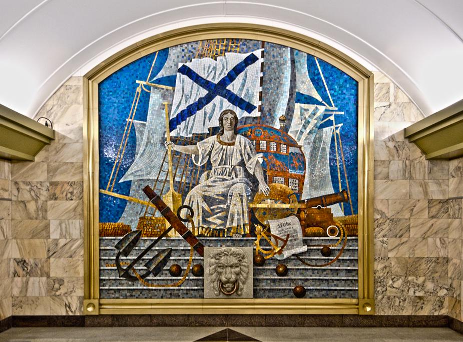 Витраж на станции «Адмиралтейская»