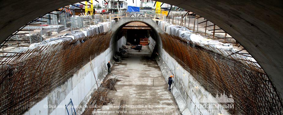 двухпутного тоннеля метро