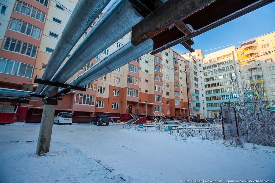 Трубопровод в Якутии