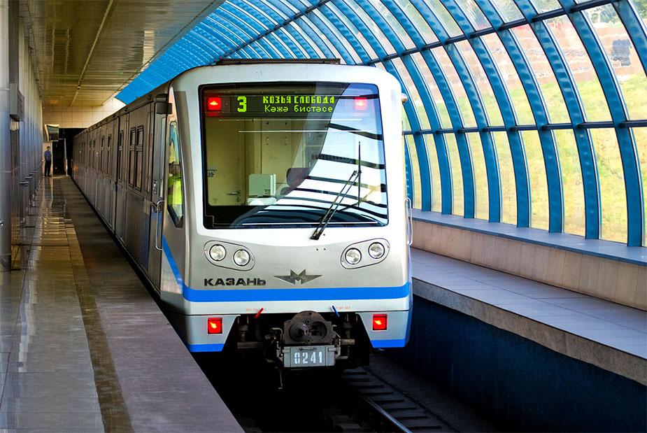 поезда казанского метро