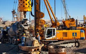Бетонирование свай - строительство Лахта центра