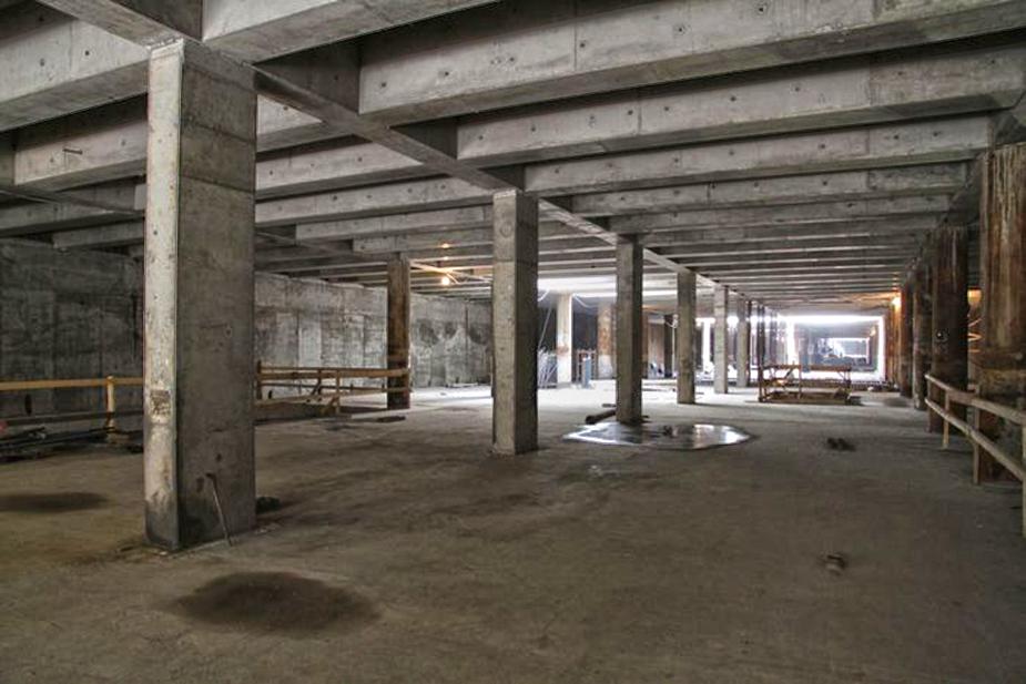 Строительство станции метро Дунайский проспект