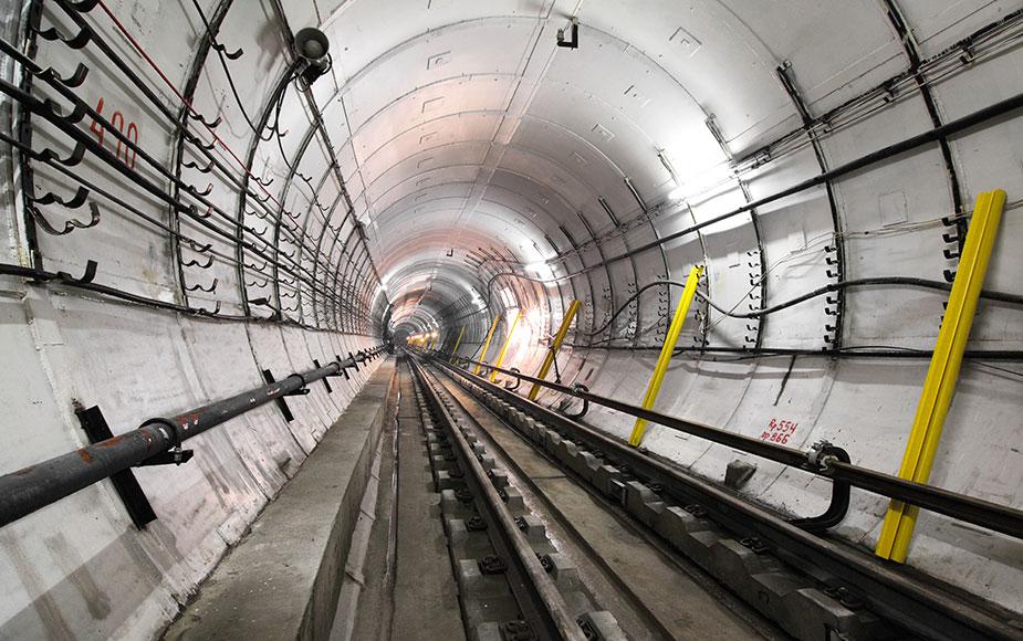тоннель метро москвы