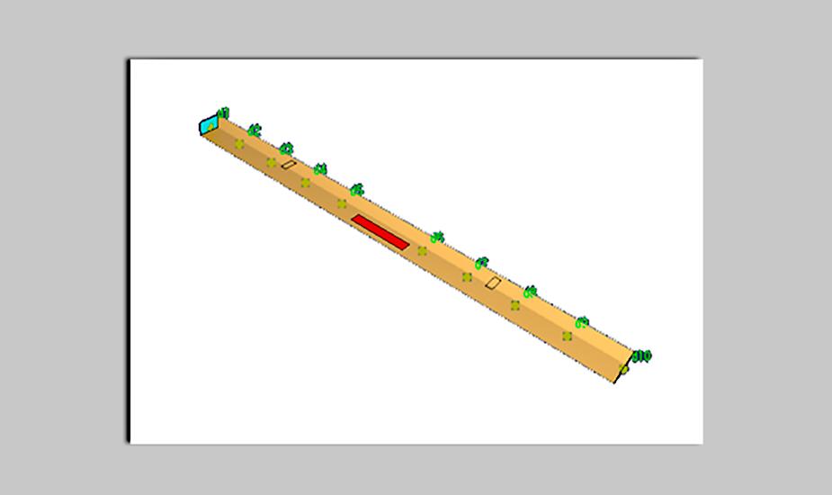 Рисунок 1. Вид расчетной модели 1