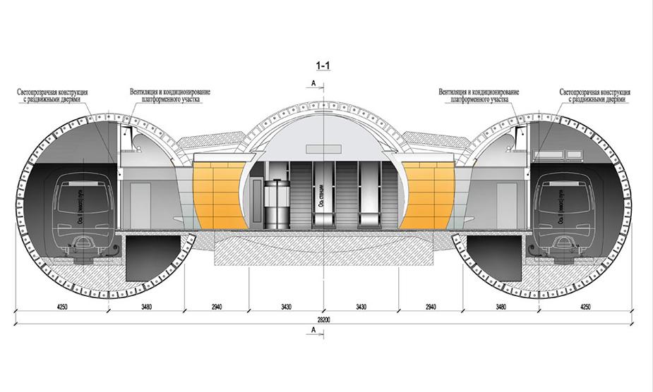 Пилонная станция метро