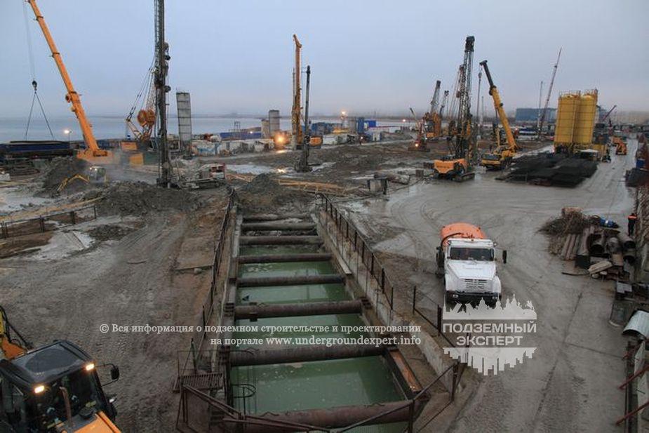 Строительная площадка станции «Новокрестовская» петербургского метрополитена