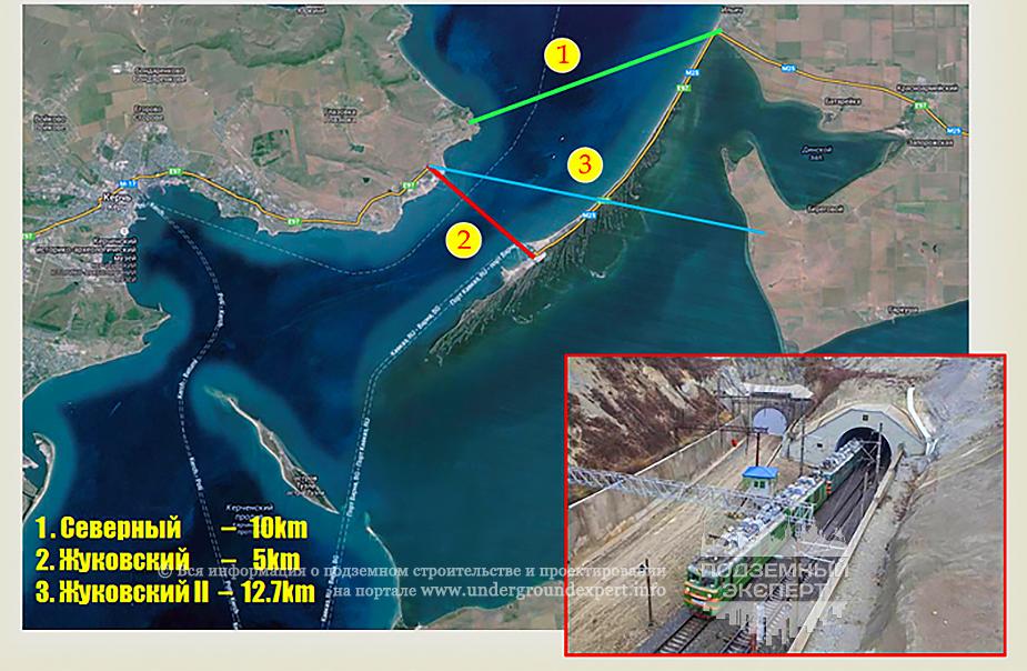 Схема строительства Керченского тоннеля