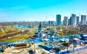 Строительство станции метро «Проспект Славы» в Санкт-Петербурге