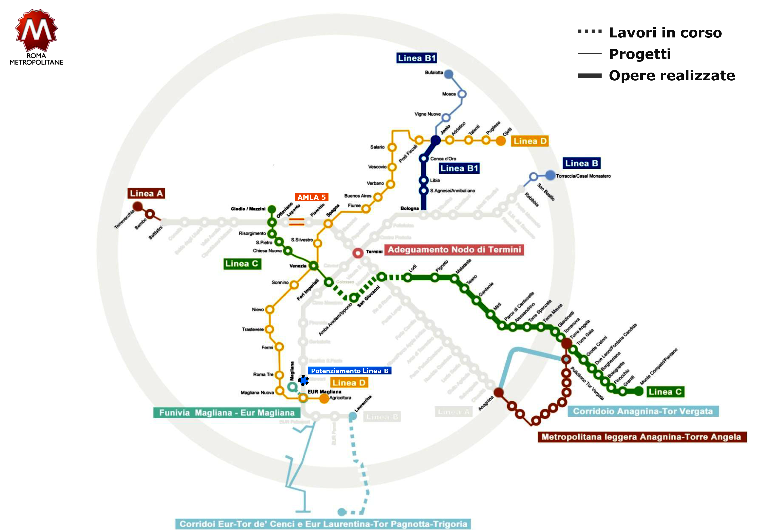 Italy Metro Map.Metropolitana Di Roma The Rome Metro Map News Construction And