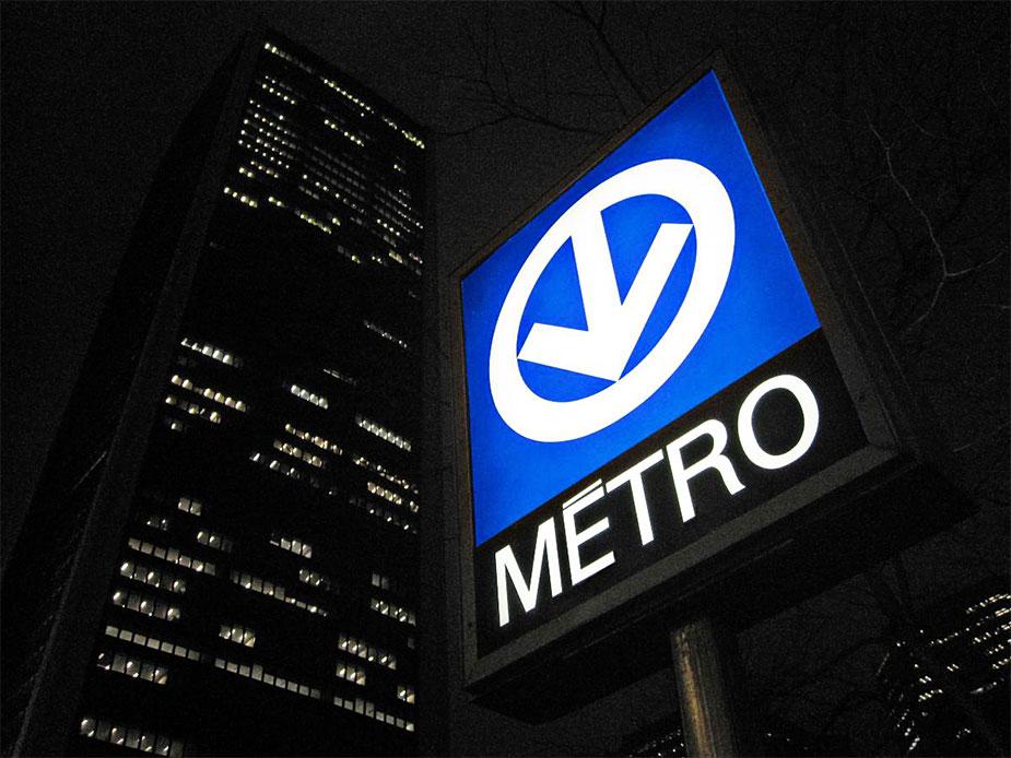 Логотип метрополитена Монреаля
