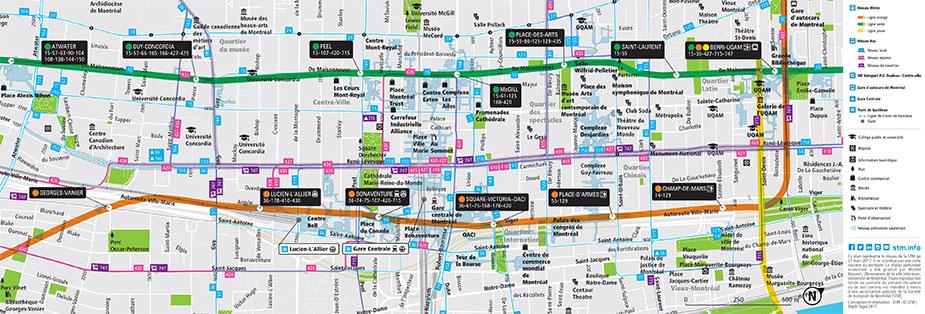 Транзитные маршруты в Монреале