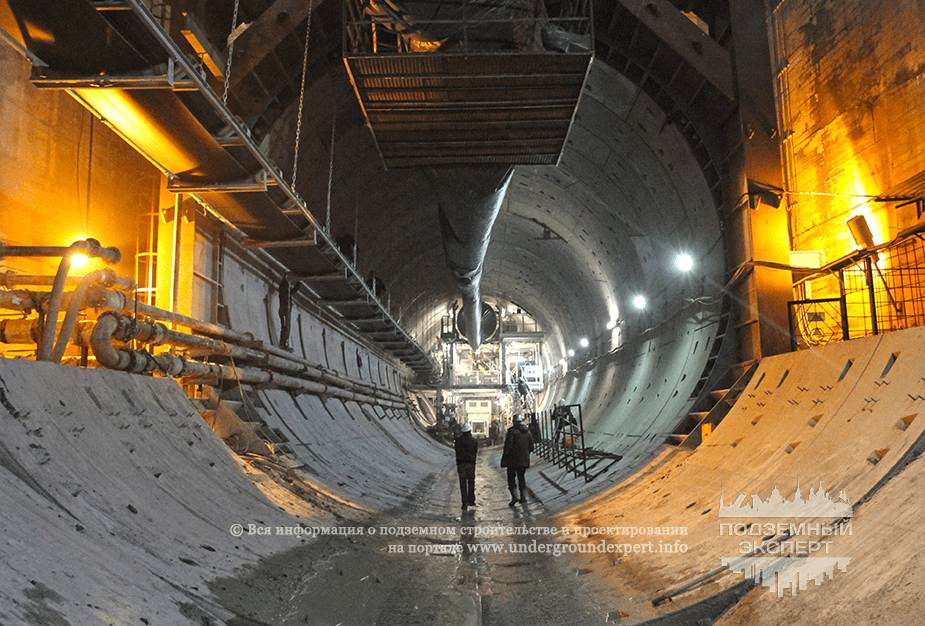 Двухпутный тоннель в Санкт-Петербурге