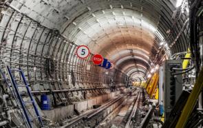 The Kozhukhovskaya line tunnel in Moscow