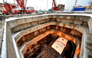 ТПМК на строительстве двухпутного тоннеля метро